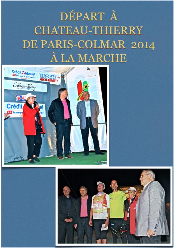 Paris-Colmar à La Marche 2014(Chateau-Thierry)