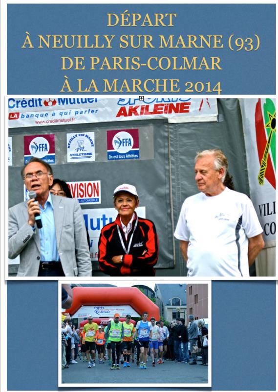 Paris-Colmar à La Marche 2014 (Neuilly sur Marne départ)