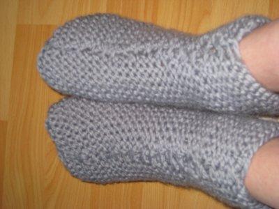chausson a tricoter pour adulte