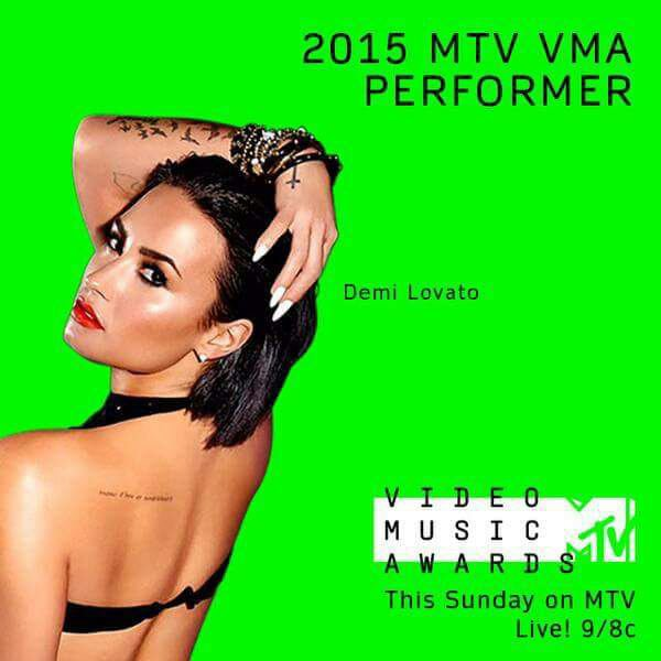Demi va chantee Cool For The Summer au VMA 2015 :)