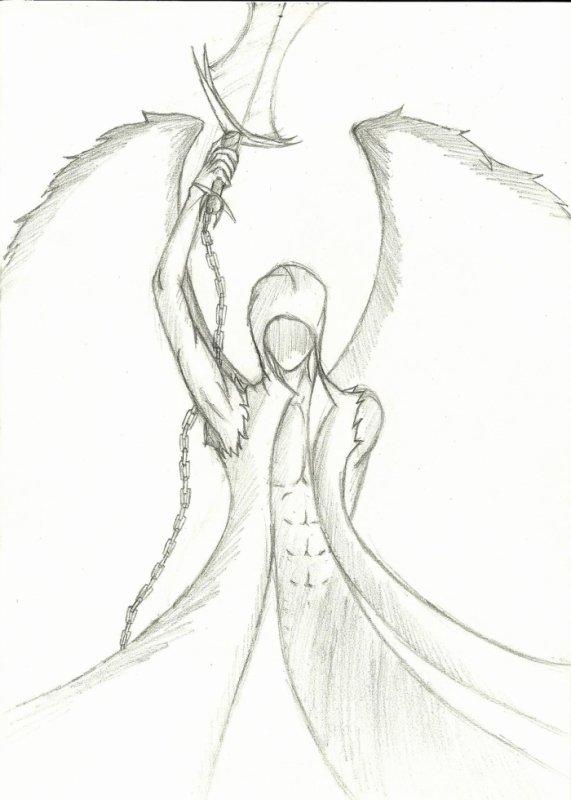 Mi ange mi d mon dessin mon monde en manga - Dessin ange noir et blanc ...