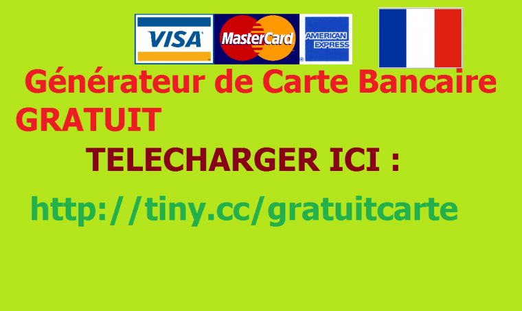 generateur de carte bancaire version 1.0.5