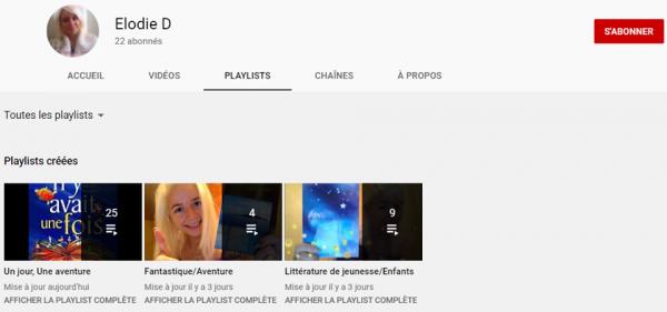 Un jour, Une aventure Playlist sur Youtube