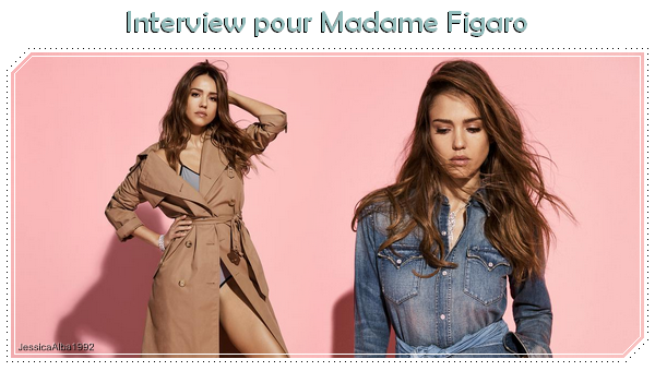 Interview et photoshoot - Madame Figaro