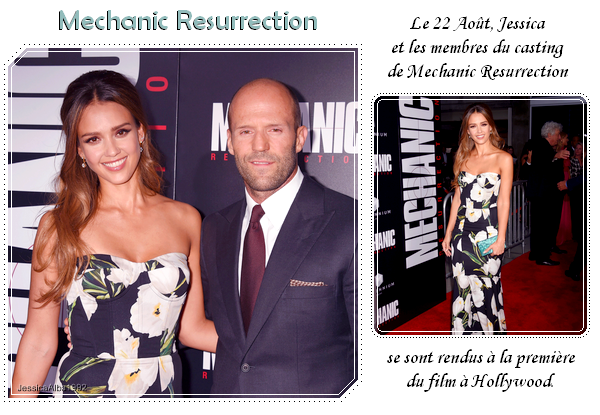 "The premiere of ""Mechanic Resurrection"""