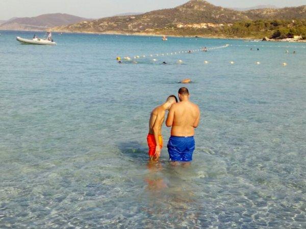 A plage de l ile rousse