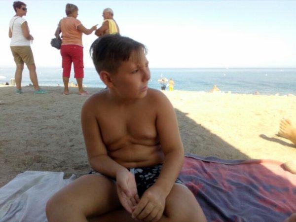 Mon fils a plage de moriani