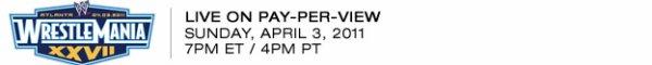 Résulats de Wrestlemania du 3.04.11