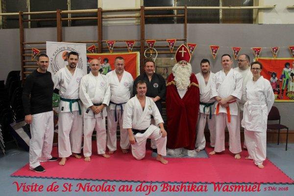 Visite de St Nicolas au dojo