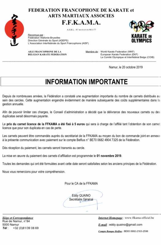 Info FFKAMA