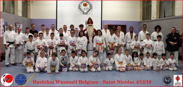 Visite de Saint Nicolas au dojo