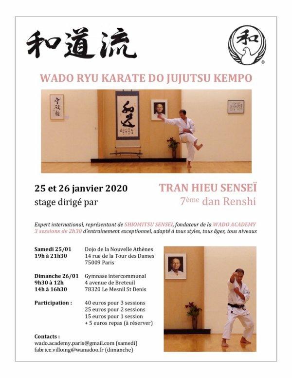 Stage Wado Ryu Sensei Tran Hieu