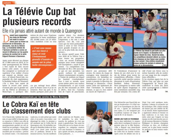 3ème Télévie Cup Karate-Do 2020