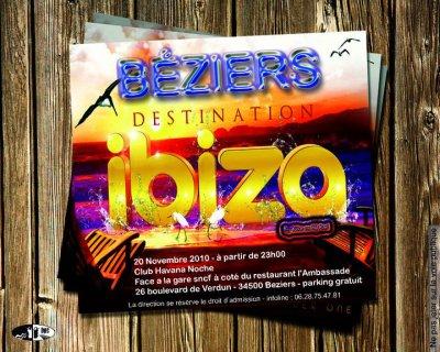 Béziers destination Ibiza