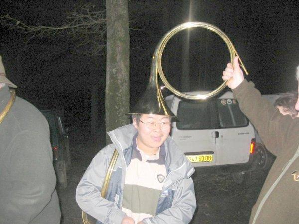 voici un sonneur de cor de chasse le 18.01.2004