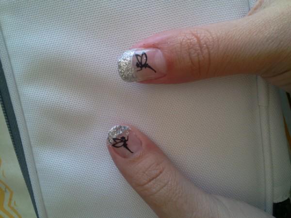 deco ongles fee clochette