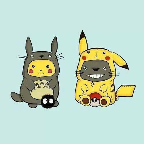 Pikachu VS Totoro :3.