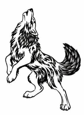 Loup Tribal Qui Hurle Darkarthe