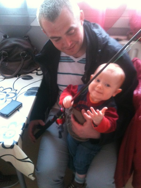 Futur pêcheur mon bébé !!