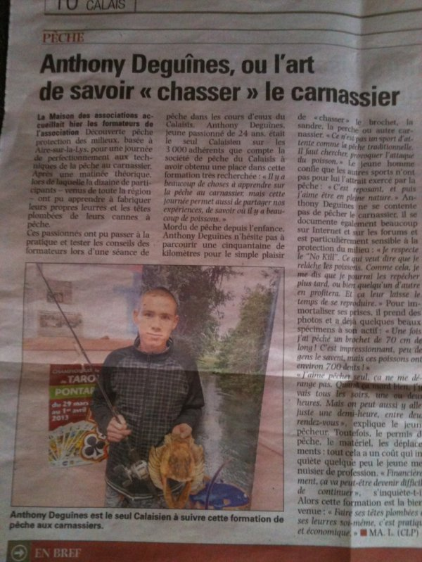 Encore un article !!