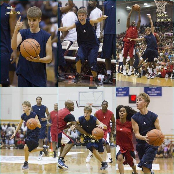 30/08/2011 Justin se promenant a Los Angeles  04/09/11 Justin jouant au basket pour une ½uvre de charité.  05/09/11 Justin tournant une publicité pour phoneguard a Atlanta 07/08/11 Justin se promenant toujours a Atlanta.08/09/11 Justin au restaurent  Ray's Pizza