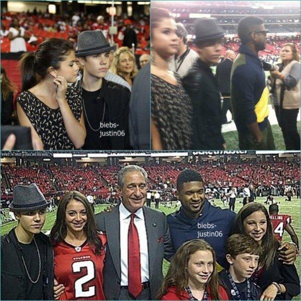 11/09/11 Justin et Selena au match de football Américain Atlanta Falcons vs. Philadelphia Eagles 21/09/11 Justin et Selena au Zoo de Los Angeles