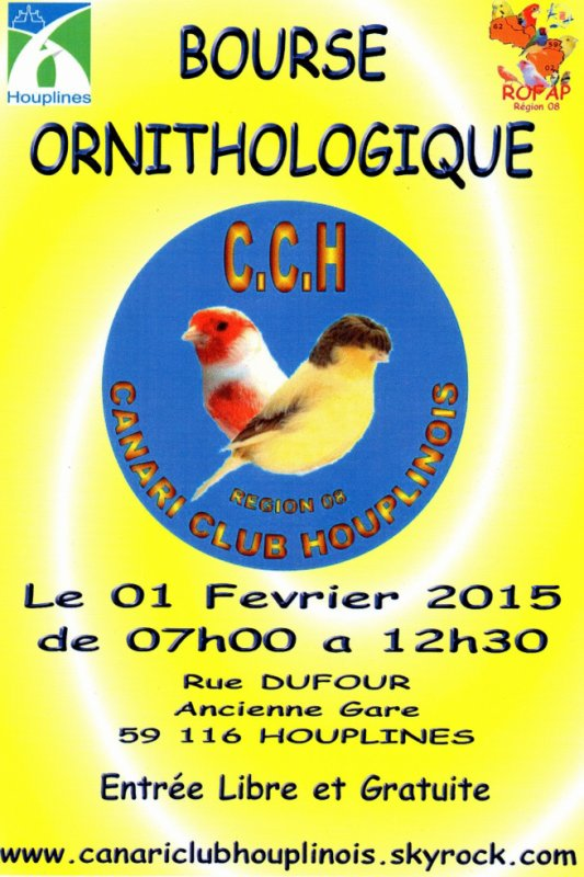 10 éme BOURSE  D OISEAUX A HOUPLINES 59116