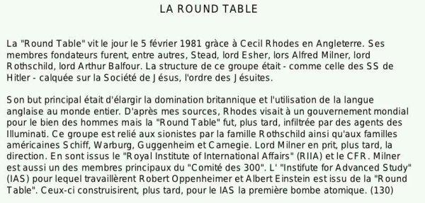 ...LA ROUND TABLE...