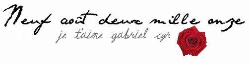 Gabriel Cyr, je l'aime