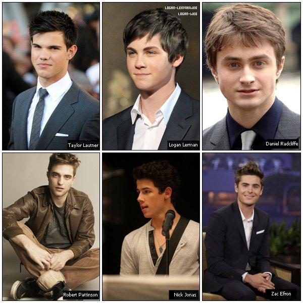 *  Parmis ses 6 célébrités,qui est le plus beau? *