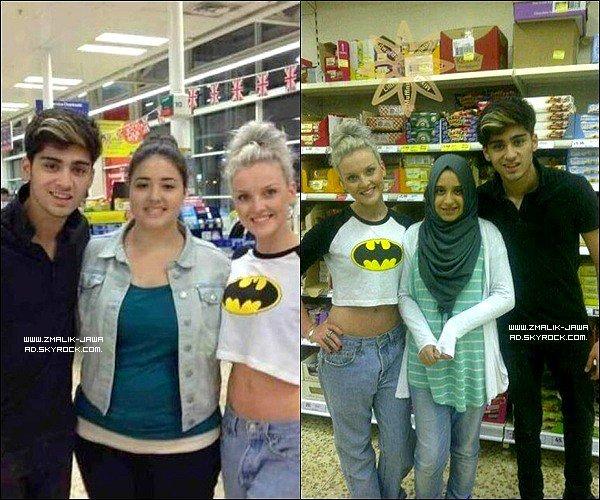 . 28.08.12: Zayn et Perrie ont étés aperçus dans un supermarché, où ils posent avec des fans ..