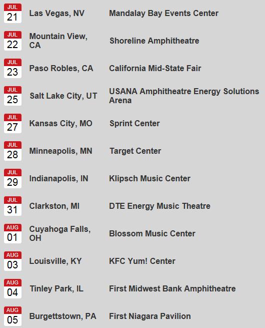 Date Tour Jul-Aug