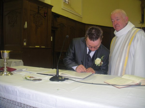 mariage de steph et pousin le 19 juin 2010