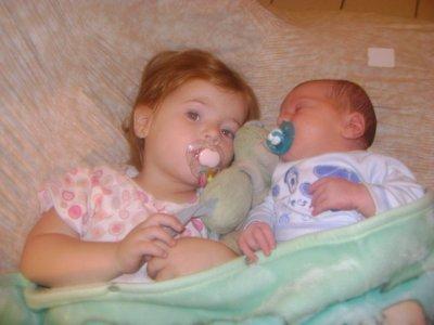 Aimy et Léo: mes 2 amours.