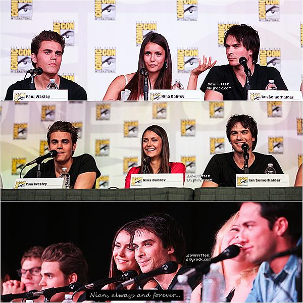 * 14.07.12 : Découvrez toutes les images de la magnifique Nina et du cast  lors du Comic con ! (1)   *