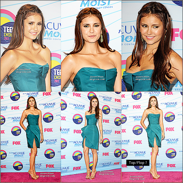 * 22.07.12: Nina Dobrev et ses co-stars étaient aux Teen Choices Awards 2012 ! *