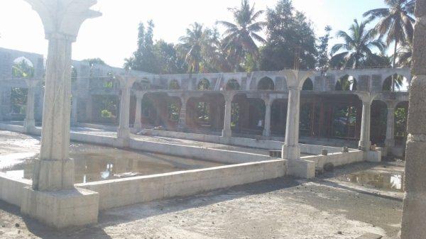 Etat d'avancement des travaux de construction de la nouvelle mosquée de Nioumadzaha Bambao (Images du 23/11/2017)