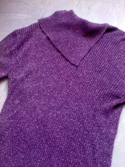 Pull violet & doré