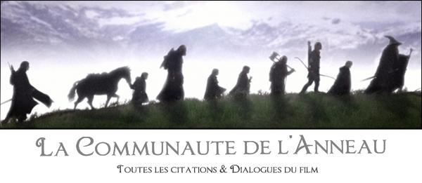 La Communauté de l'anneauToutes les citations du film et du livre