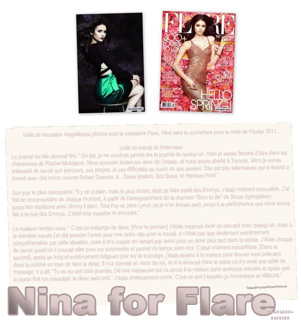 Nina pour le magazine Flare.