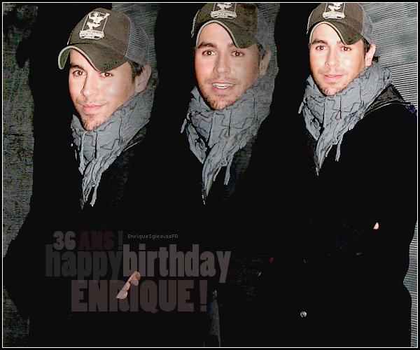 . En cette journée du 08 mai 2011 , notre beau Enrique fête ses 36 ans ! .