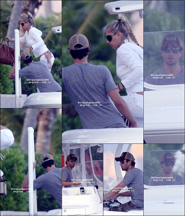 . Dimanche 08 Mai : Enrique et sa fiancée Anna se promenant avec leurs bateau . .