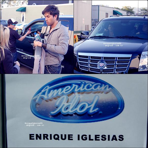 . Mercredi 11 Mai : Enrique a l'enregistrement de l'émission d'Américan Idol  .