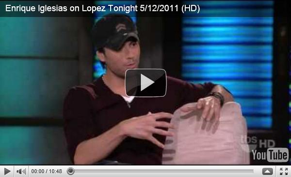 """. Jeudi 12 Mai : Enrique annonce les dates de sa tournée avec pitbull et Prince Royce  ____Jeudi 12 Mai : Un peu plus tard dans la journée Enrique était a l'émission """"Lopez Tonight""""  ."""