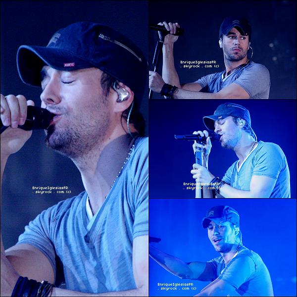 . Samedi 12 Février : Enrique en concert au Borgata Casino Hôtel a Atlantic City dans le cadre de sa tournée mondiale .