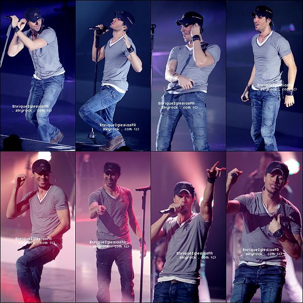 . Samedi 19 Février : Enrique en concert au Gibson Amphitheatre de Los Angeles dans le cadre de sa tournée ..