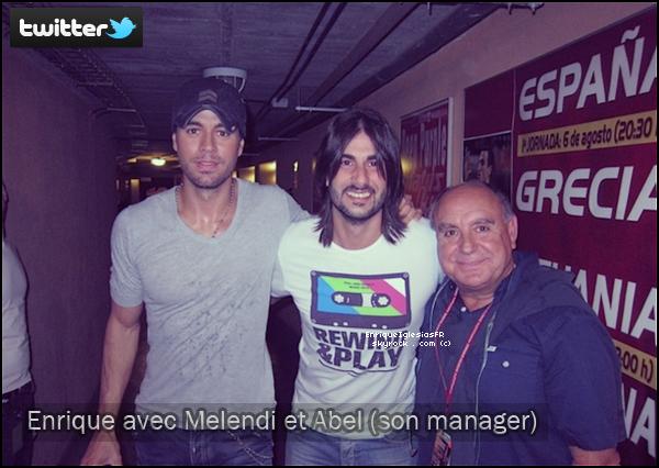 . Vendredi 3 Juin : Enrique nous a gaté en postant 2 nouvelles photos sur son Twitter officiel! .
