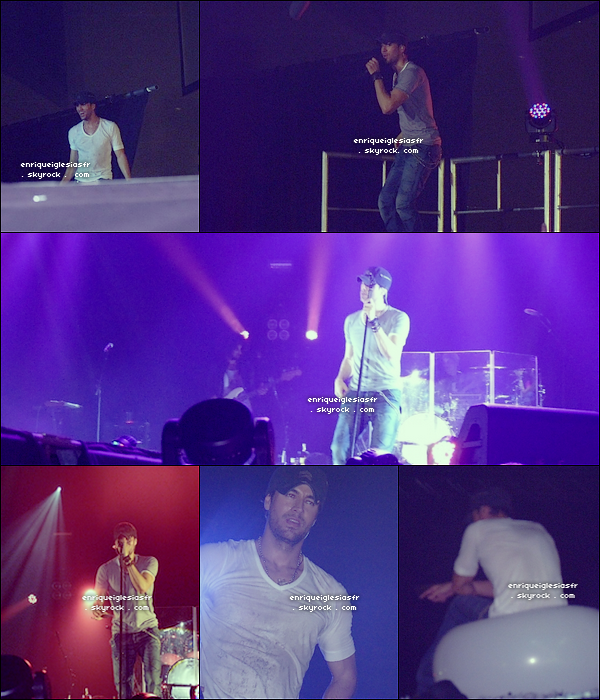 . Lundi 6 Juin : Enrique performe a Luxembourg dans le cadre de sa tournée Mondiale. .