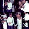 . Jeudi 26 Mars 2009 : Enrique et Anna sortant du restaurant 'Prime One 12' a Miami __ Flashback. .