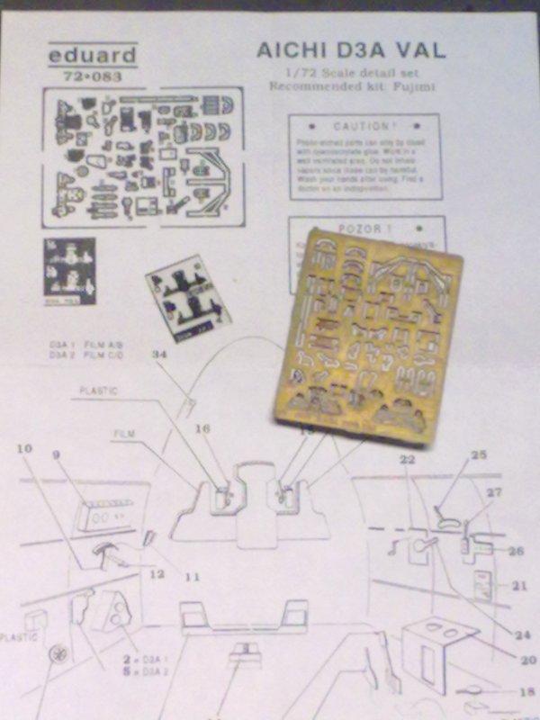 AICHI D3A1 VAL JAPONAIS 1/72 001